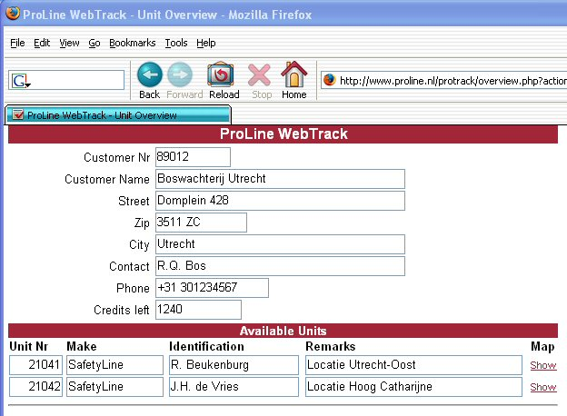 WebTrack Overview
